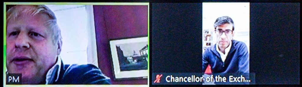 Prime Minister and Chancellor on Zoom