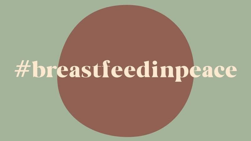 Breastfeed in peace campaign